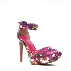 Zion Pink Floral Heel